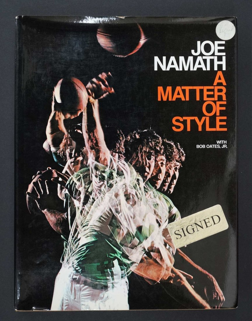 Joe Namath {A Matter Of Style} Signed Hardcover Book