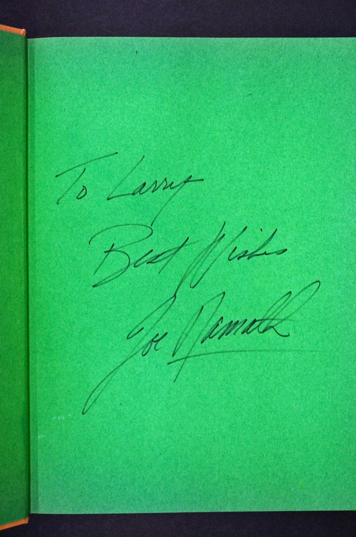 Joe Namath {A Matter Of Style} Signed Hardcover Book - 2