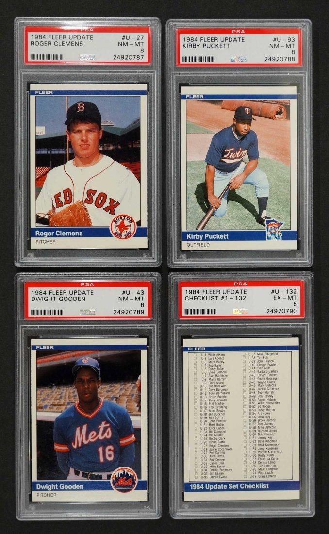 1984 Fleer Update Baseball Card Set. Complete set with