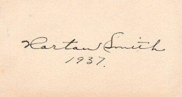 Horton Smith Cut Signature. Autographed on 2.25'' x 4''