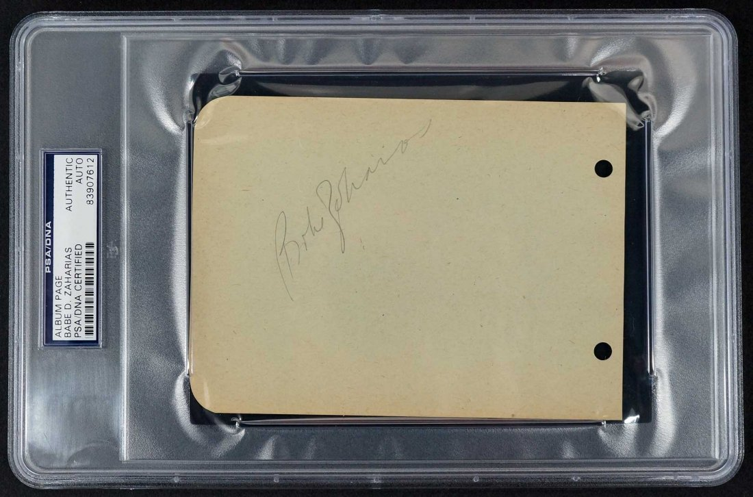 Babe Didrikson Zaharias Signed Album Page. Autographed