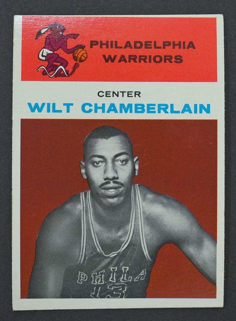 1961 Fleer Wilt Chamberlain #8 High Grade Rookie Card.