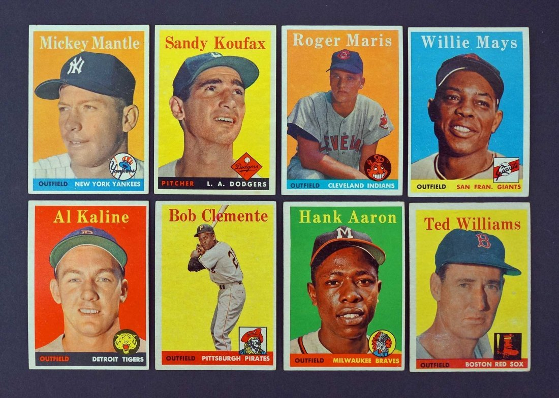 1958 Topps Baseball Mid to High Grade Complete Set