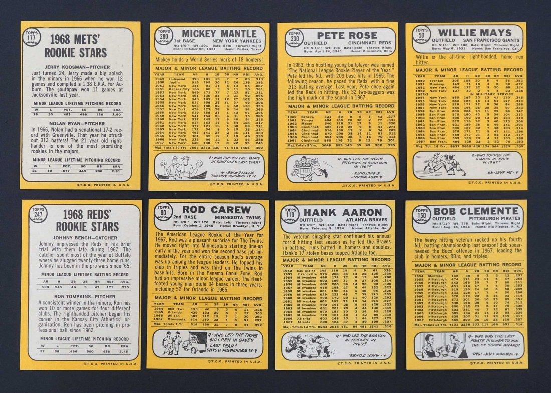 1968 Topps Baseball High Grade Complete Set. The finest - 5