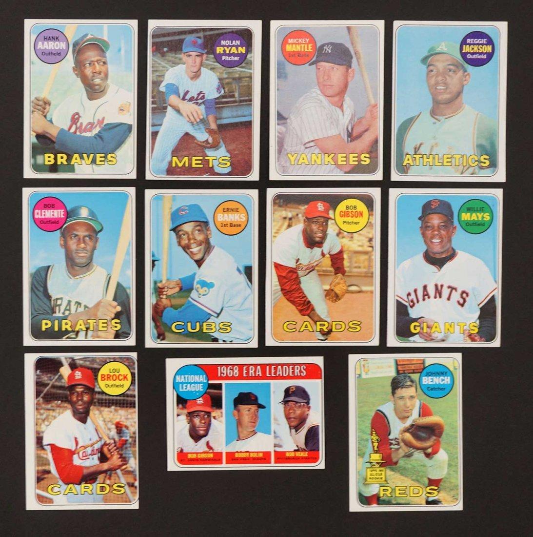 1969 Topps Baseball High Grade Near Complete Set