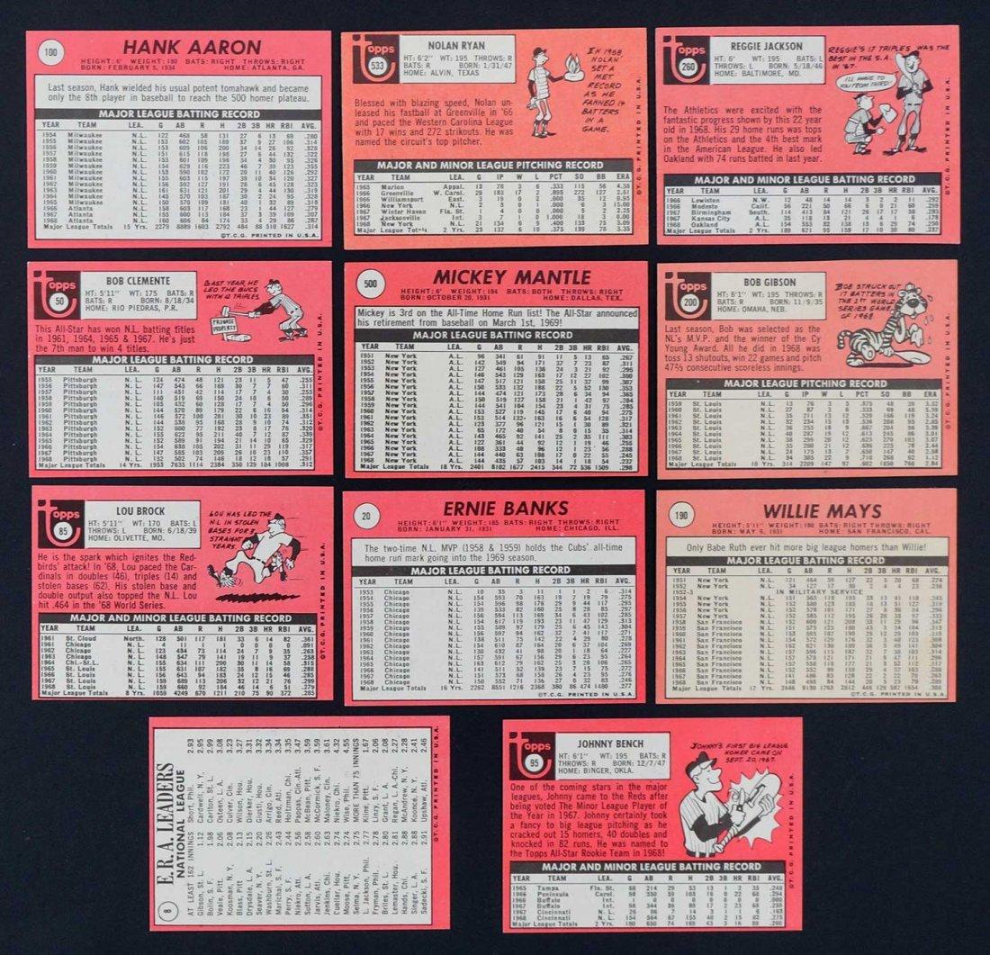 1969 Topps Baseball High Grade Near Complete Set - 2