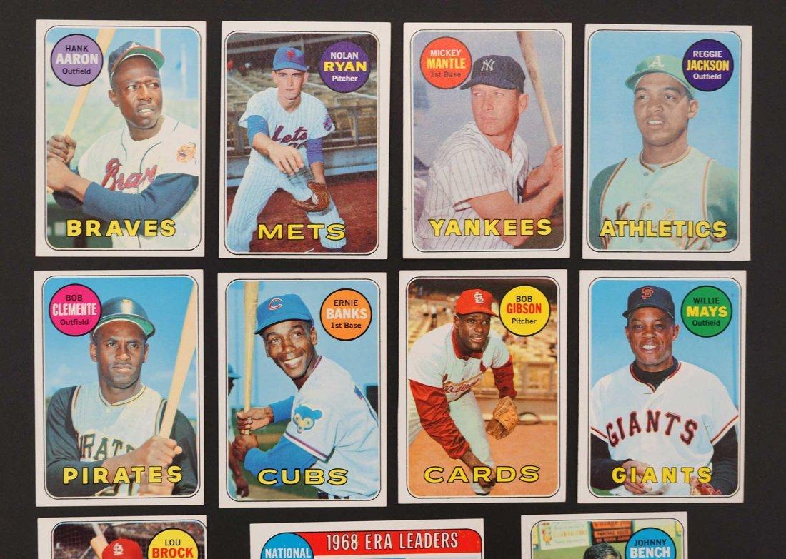 1969 Topps Baseball High Grade Near Complete Set - 4