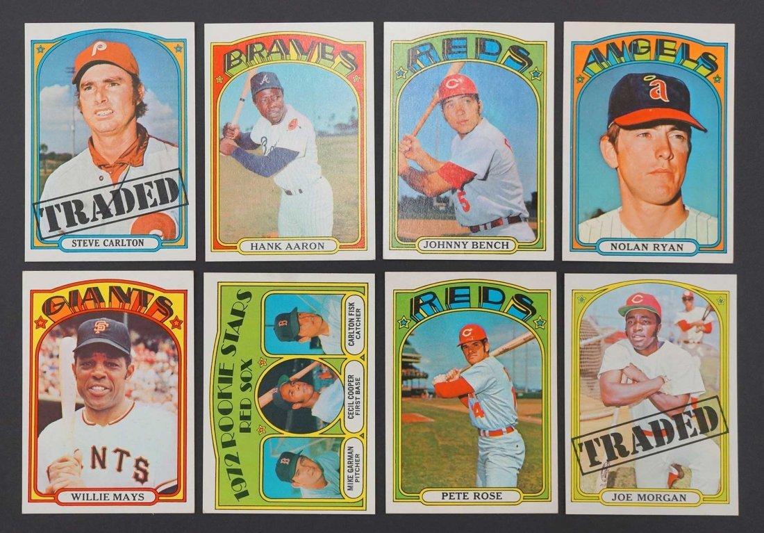 1972 Topps Baseball High Grade Complete Set. The finest