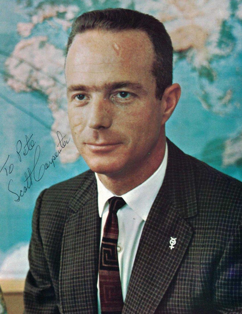 Scott Carpenter Signed NASA Publicity Photo. 8'' x