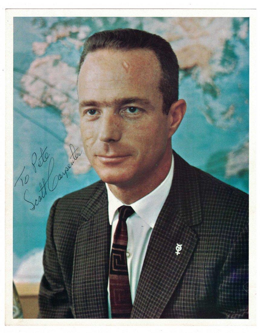 Scott Carpenter Signed NASA Publicity Photo. 8'' x - 2