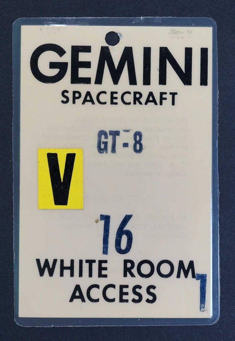 Original Gemini 8 White Room Access Badge. From estate