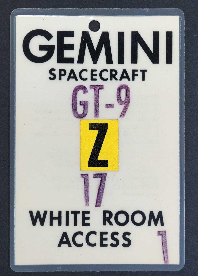 Original Gemini 9 White Room Access Badge. From estate