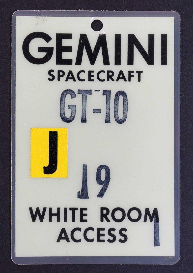 Original Gemini 10 White Room Access Badge. From estate
