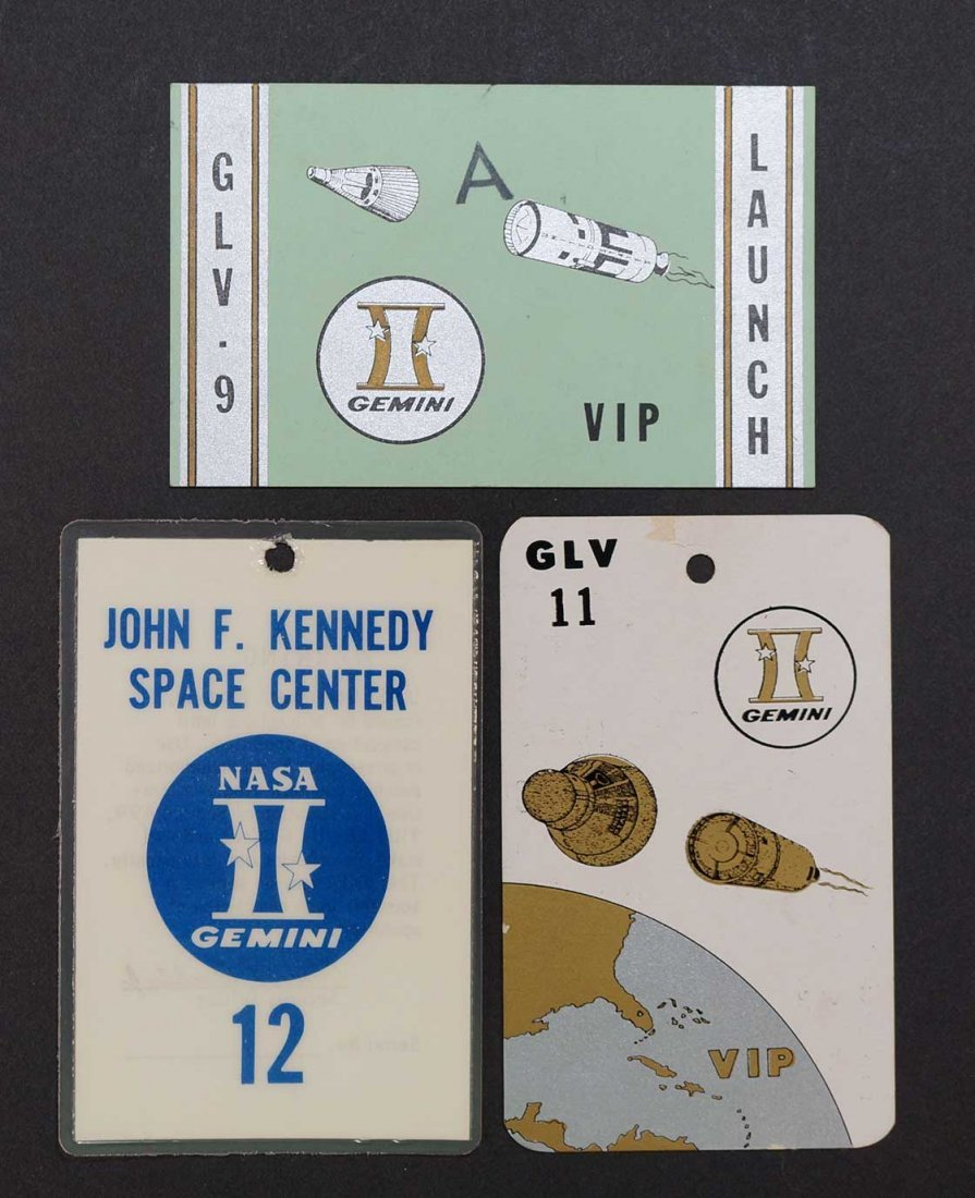Three Original Genmini Program Badges.