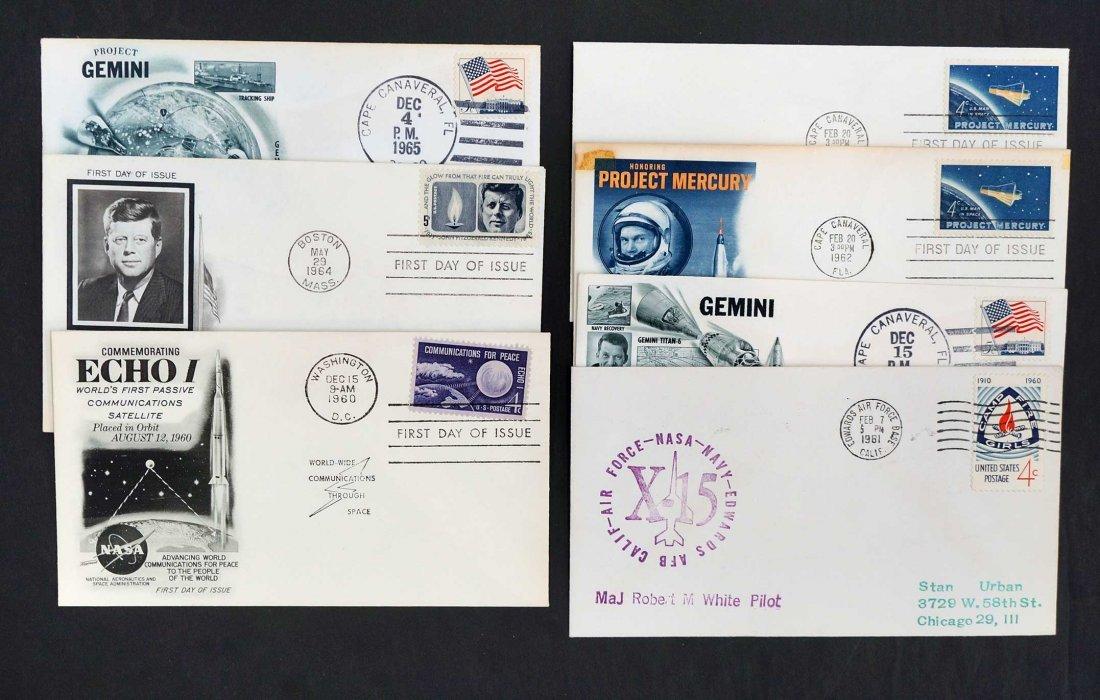 Group of NASA Mercury and Gemini Commemorative Covers, - 4