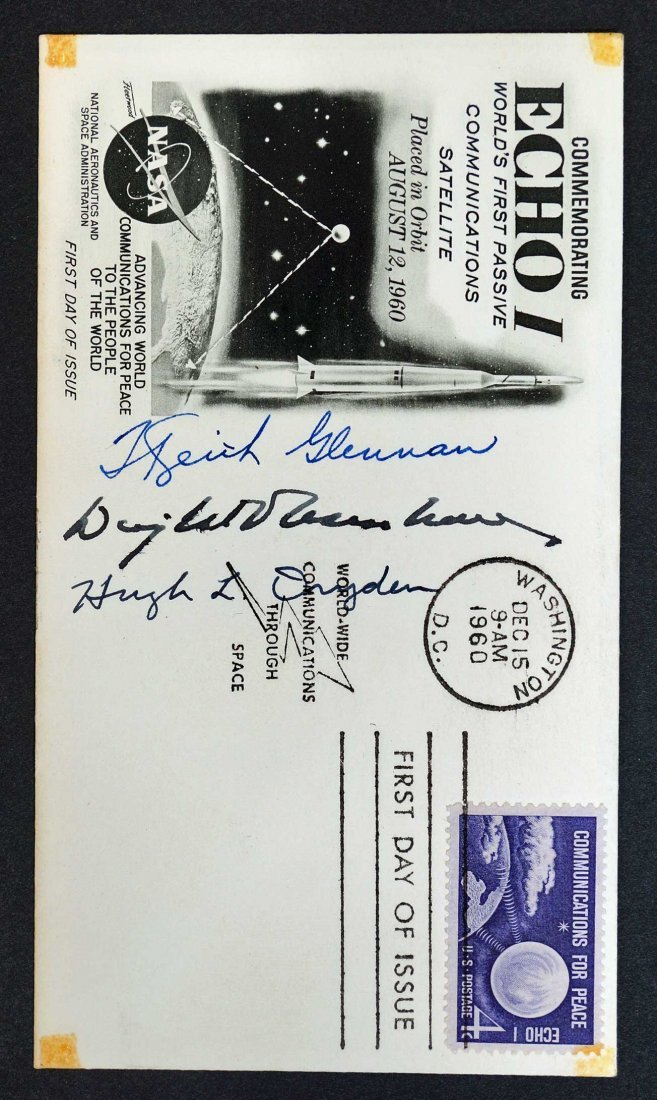 1960 NASA Echo I Commemorative Cover Bearing the