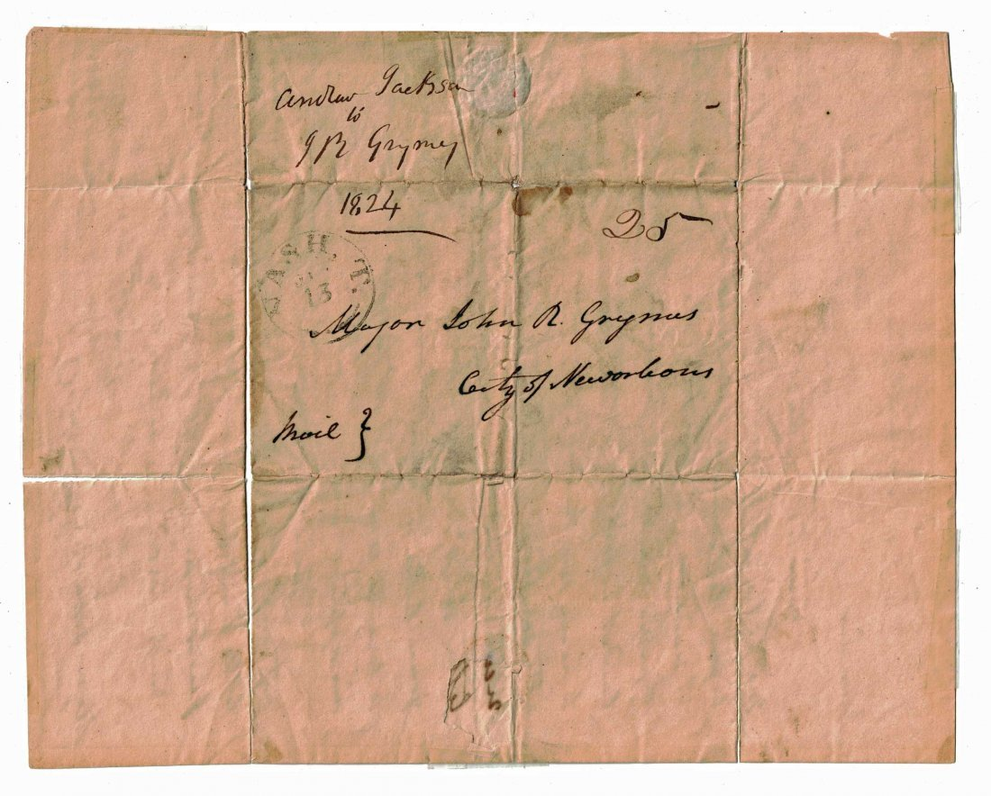 Andrew Jackson Autograph Letter Signed ALS. 8'' x 10'', - 3