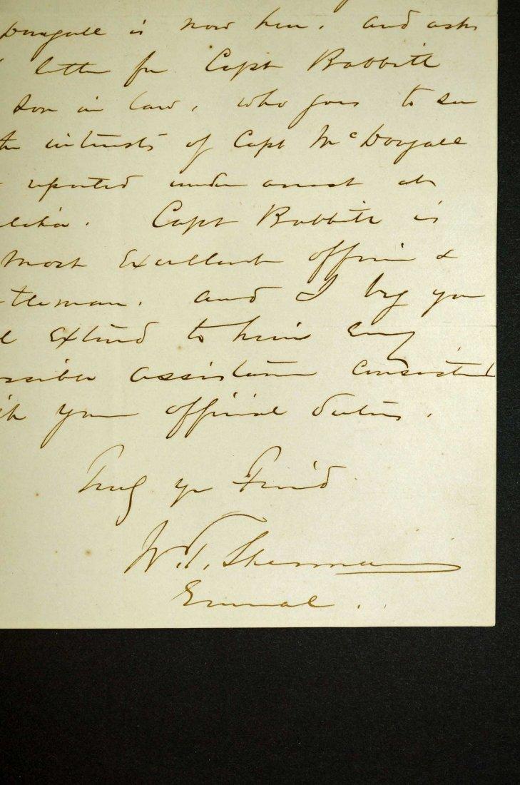 William Tecumseh Sherman Autograph Letter Signed ALS. - 3
