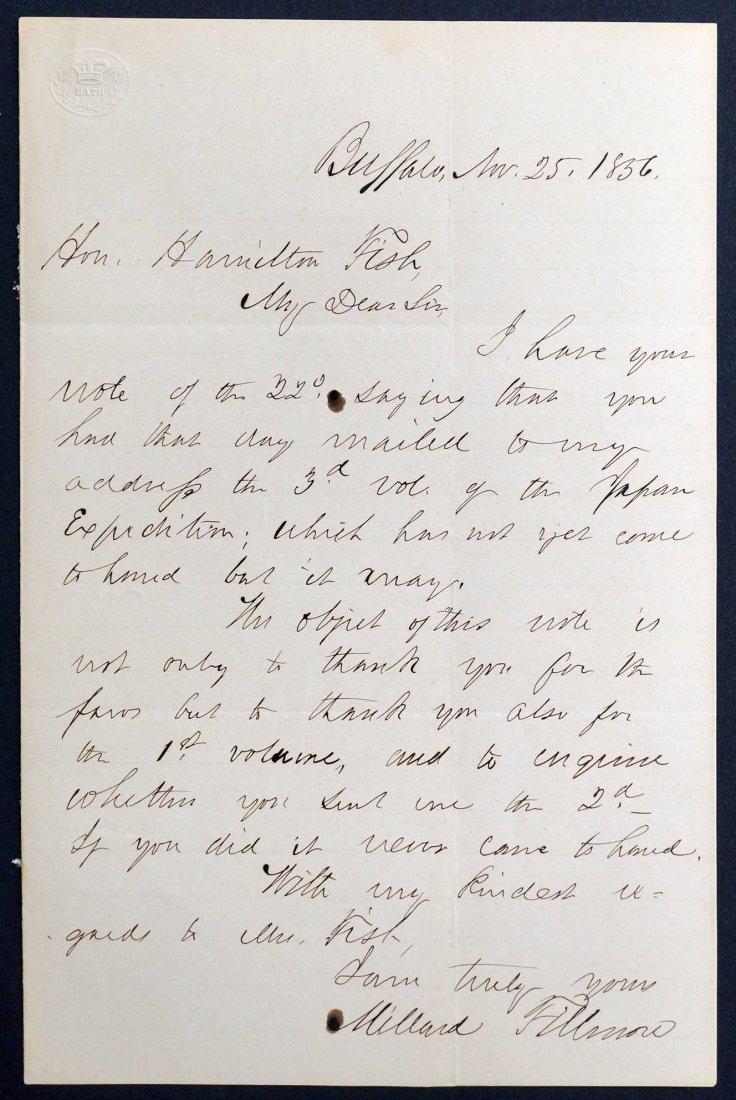 Millard Fillmore Autograph Letter Signed ALS. Signed
