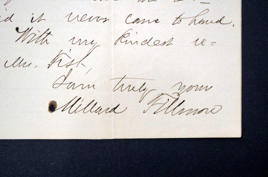 Millard Fillmore Autograph Letter Signed ALS. Signed - 2