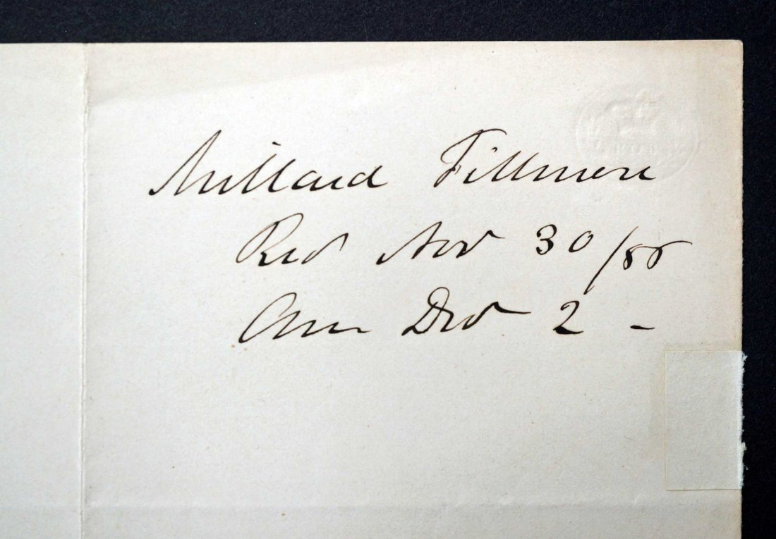 Millard Fillmore Autograph Letter Signed ALS. Signed - 3