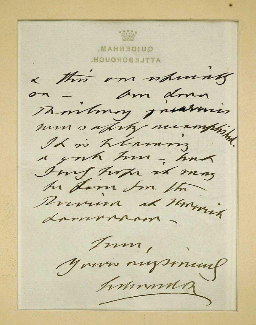 King Edward VII of England Autograph Letter ALS. Triple - 2