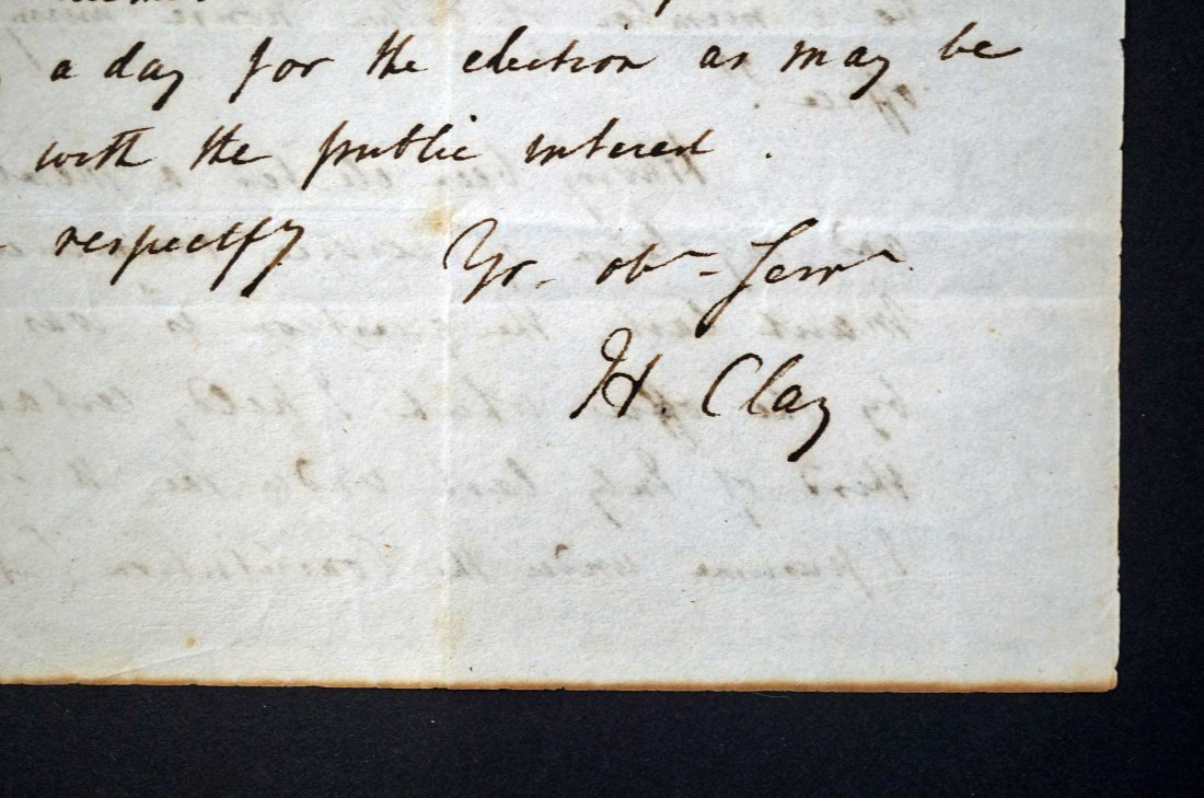 Henry Clay Autograph Letter Signed ALS. An American - 2