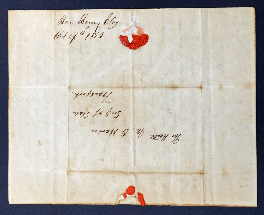 Henry Clay Autograph Letter Signed ALS. An American - 4