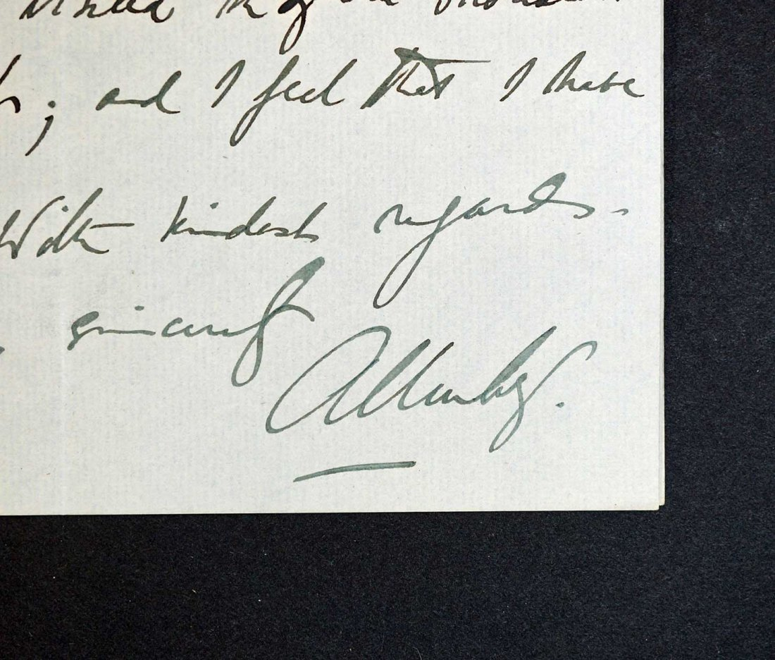Field Marshall Edmund Allenby Autograph Letter Signed - 3