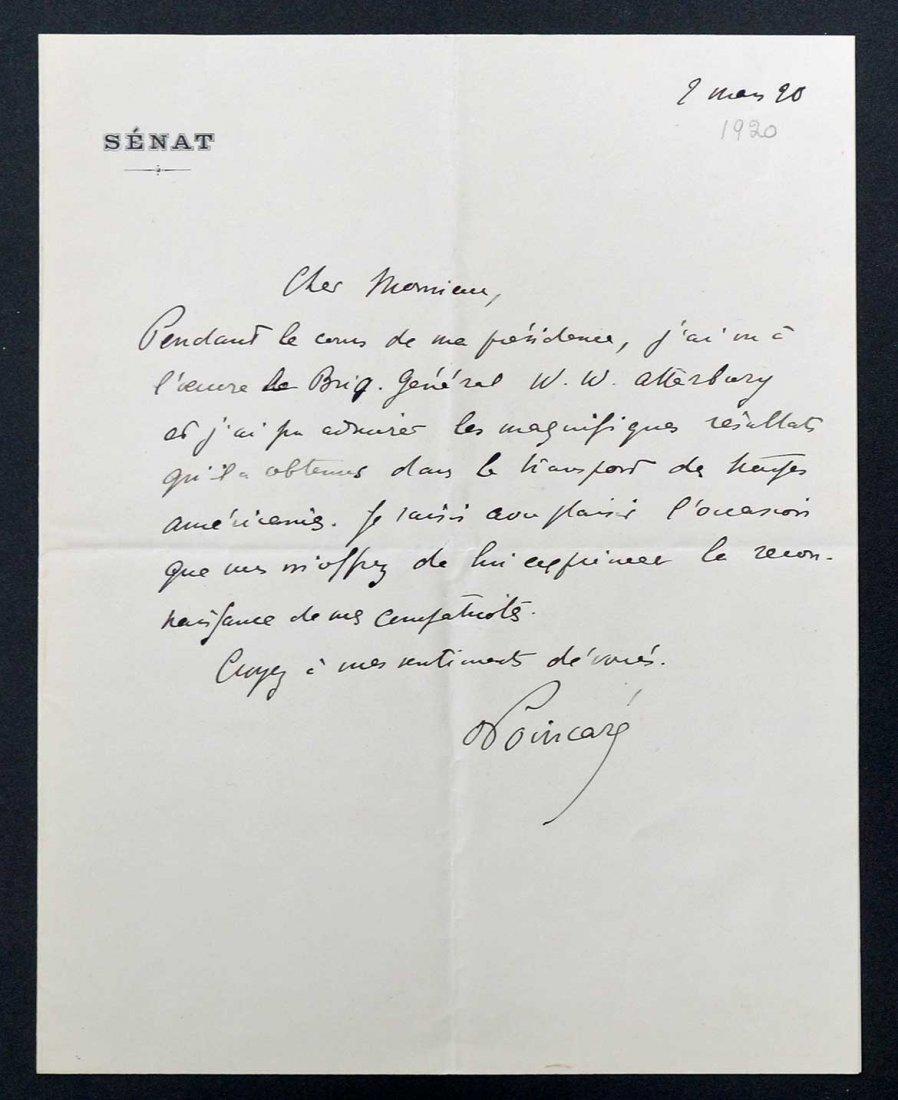 Raymond Poincare, France, Autograph Letter Signed ALS,