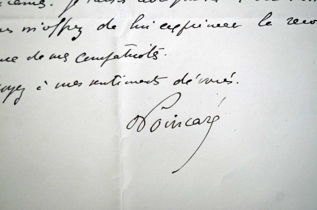 Raymond Poincare, France, Autograph Letter Signed ALS, - 2