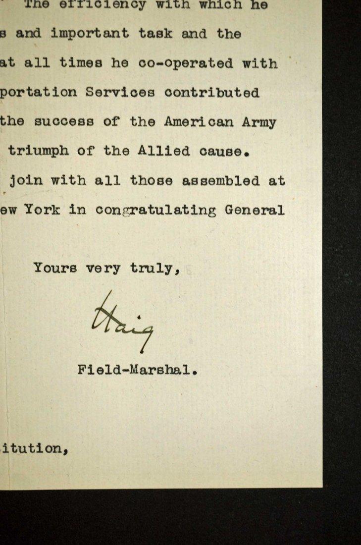 Field Marshall Douglas Haig Autograph Letter Signed - 2