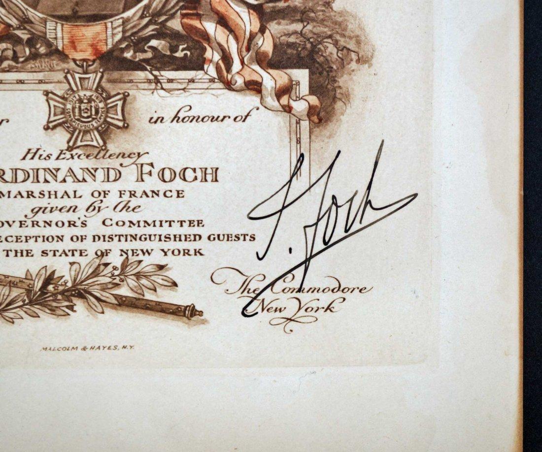 Marshall Ferdinand Foch Autograph Signed Reception - 2
