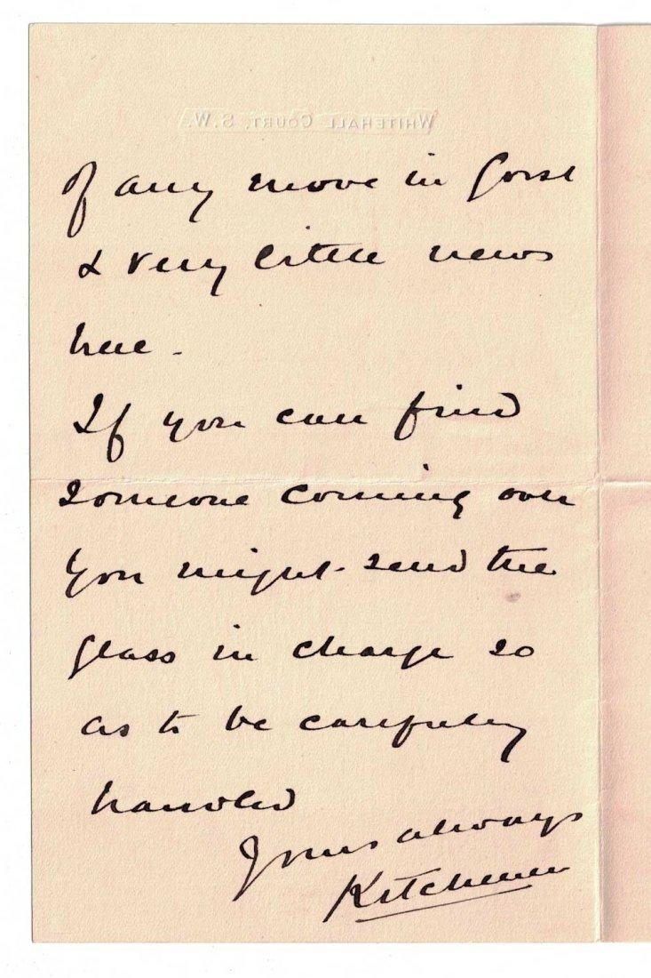 Field Marshall Herbert Kitchener Autograph Letter