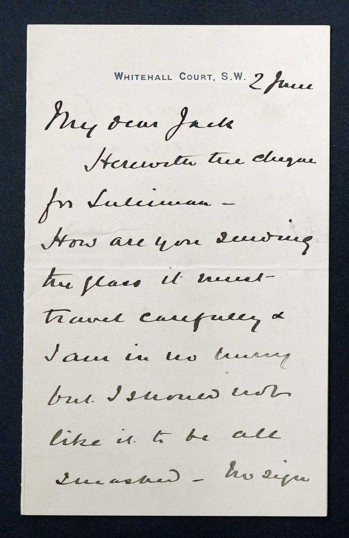 Field Marshall Herbert Kitchener Autograph Letter - 2