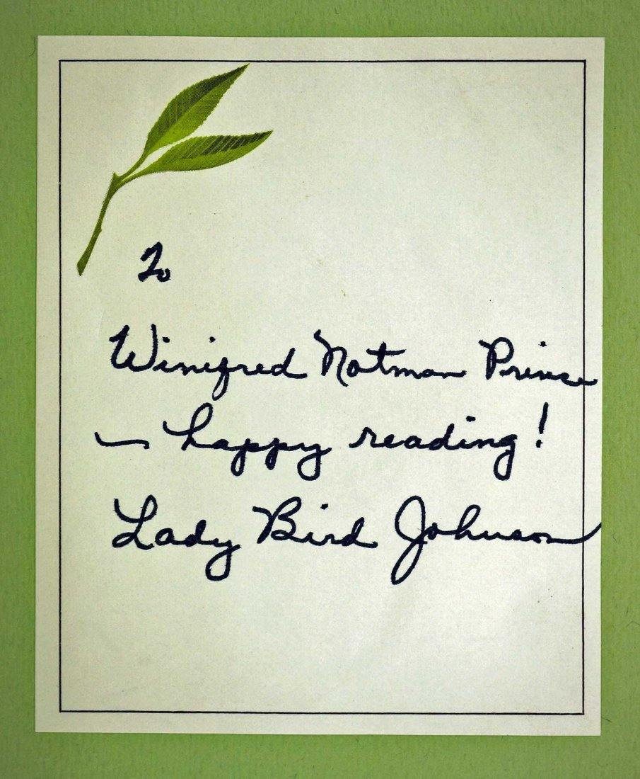 Lady Bird Johnson Signed First Edition {A White House - 2