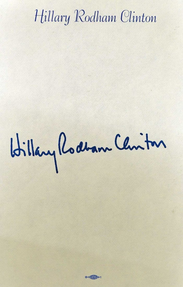 Hillary Clinton Signed Hardcover Book. {It Takes A - 2
