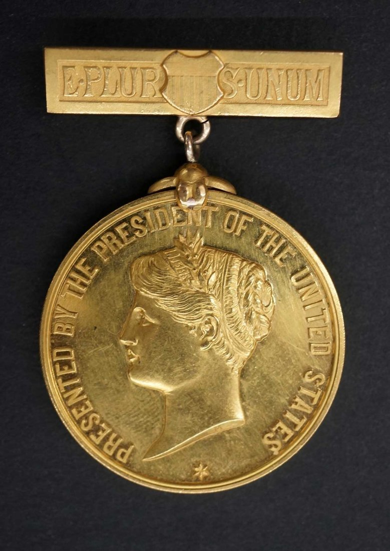 1899 Gold Medal Presented By The President of the