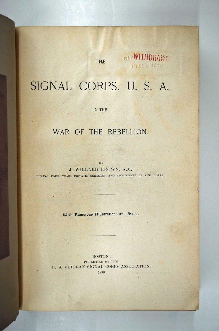 The Signal Corps in the War of the Rebellion, 1896, 916 - 3