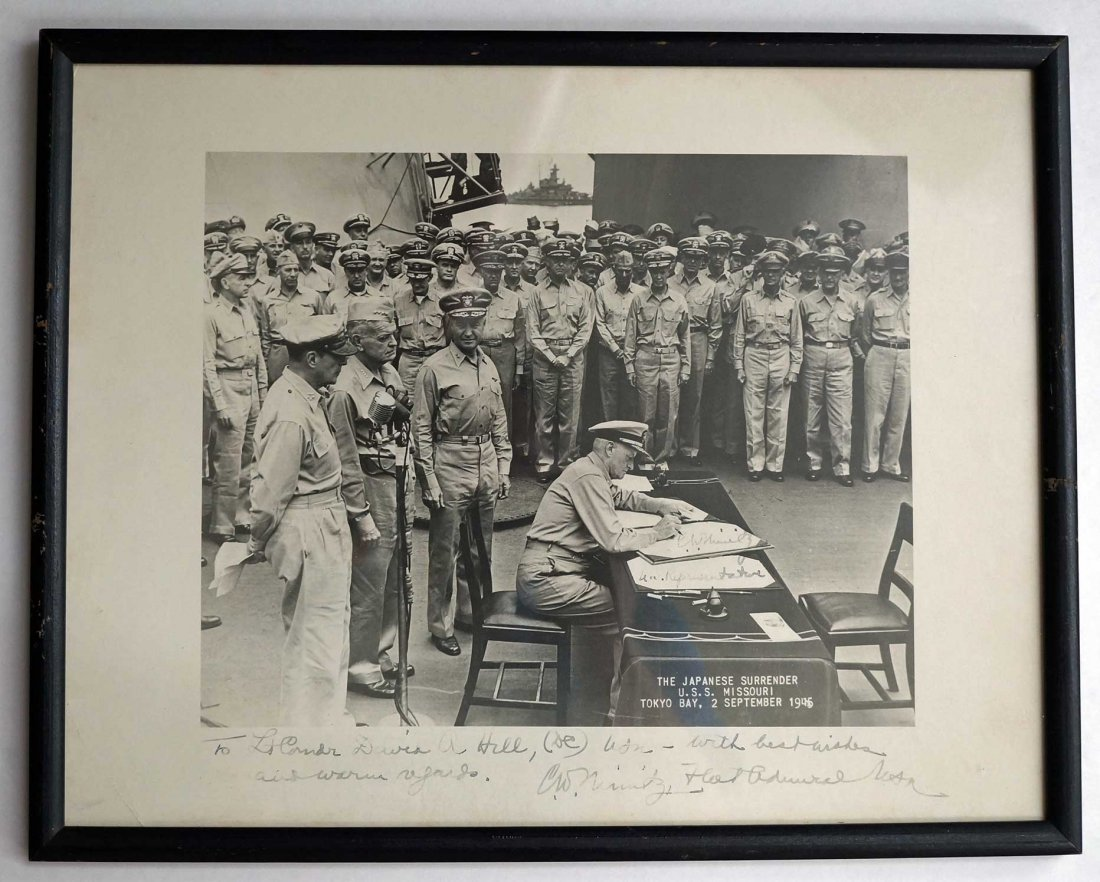 Vintage U.S. Navy Signed Photographs including Chester