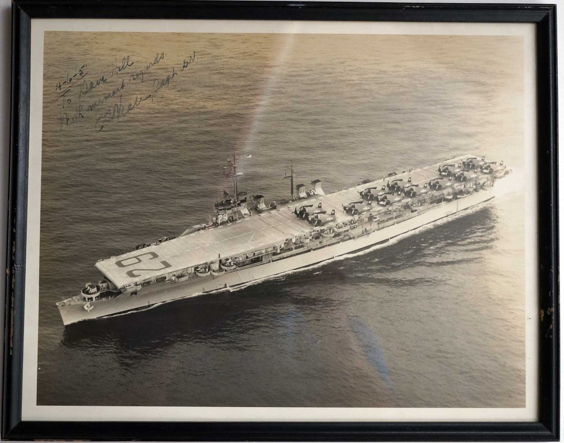 Vintage U.S. Navy Signed Photographs including Chester - 3