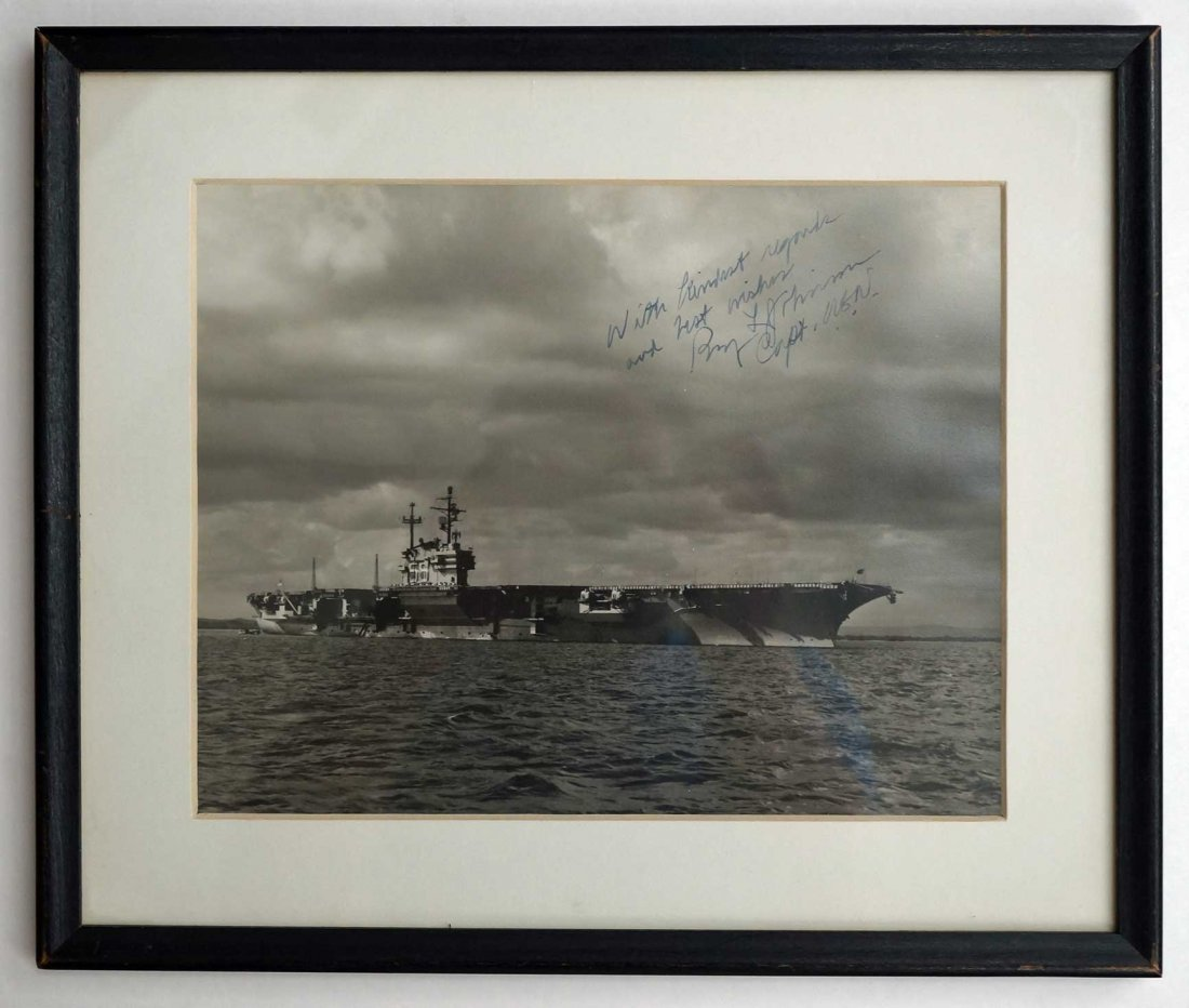 Vintage U.S. Navy Signed Photographs including Chester - 6