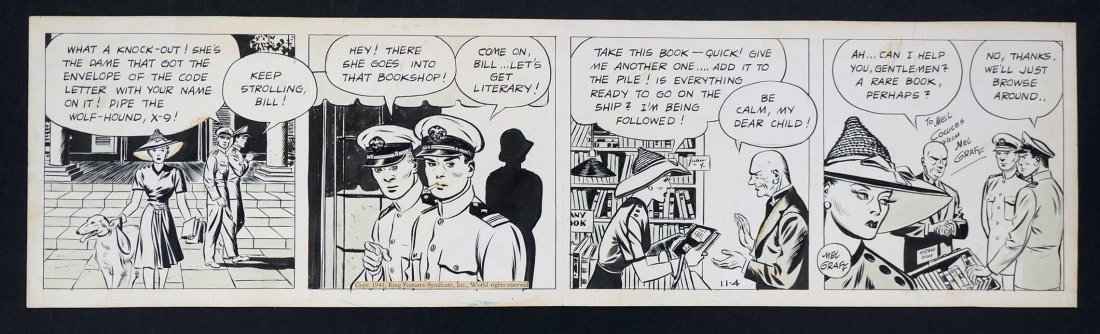 Mel Graff Terry and the Pirates Original Comic Daily