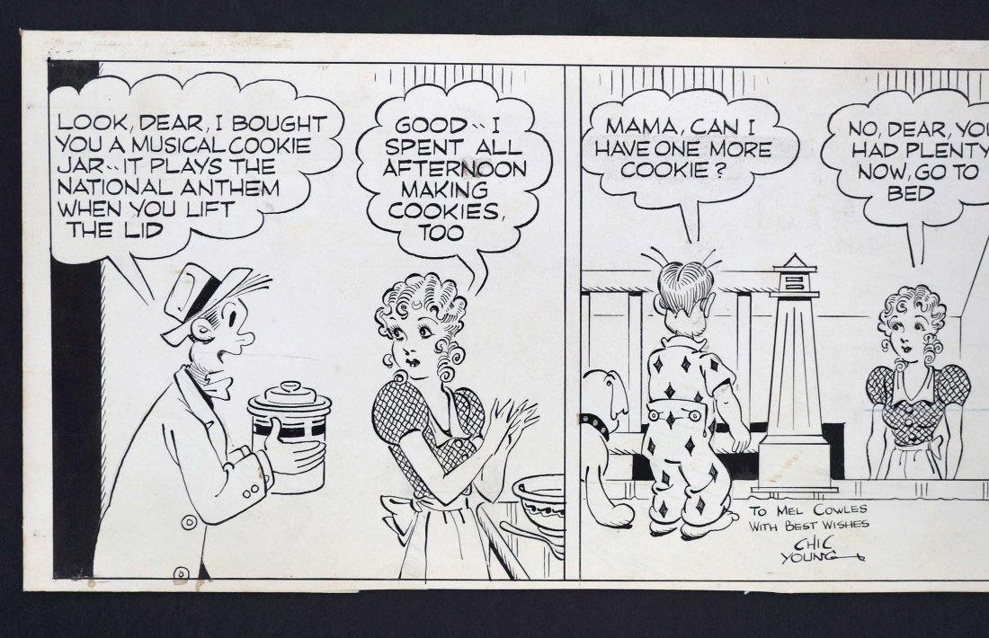 Chic Young Blondie Comic Daily Strip Original Art. - 4