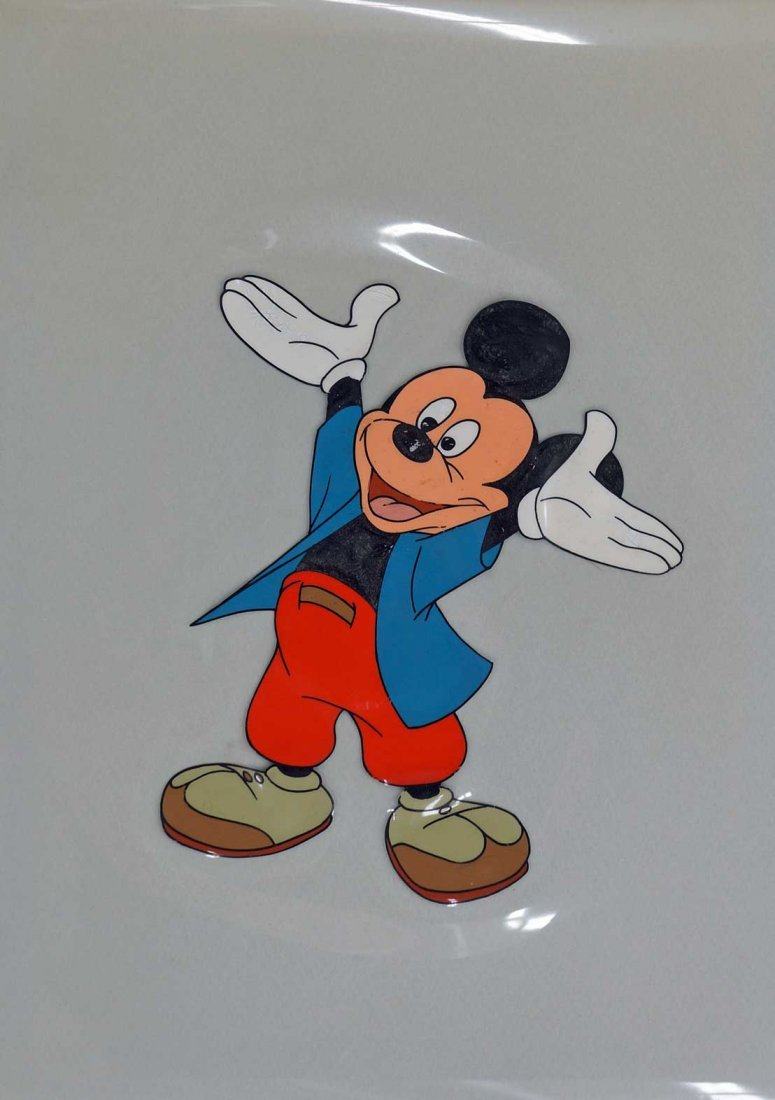 Mickey Mouse Original Celluloid Drawing. Animation cel