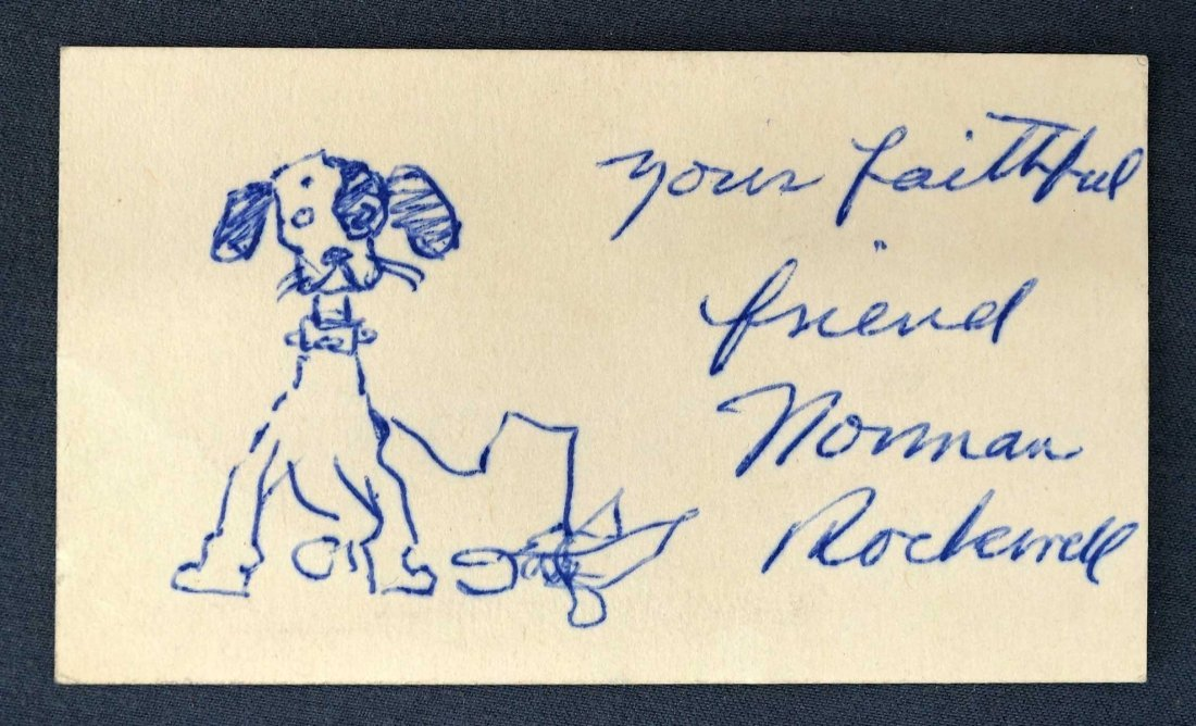 Norman Rockwell (1894-1978) Small Dog Sketch. 2'' x 3