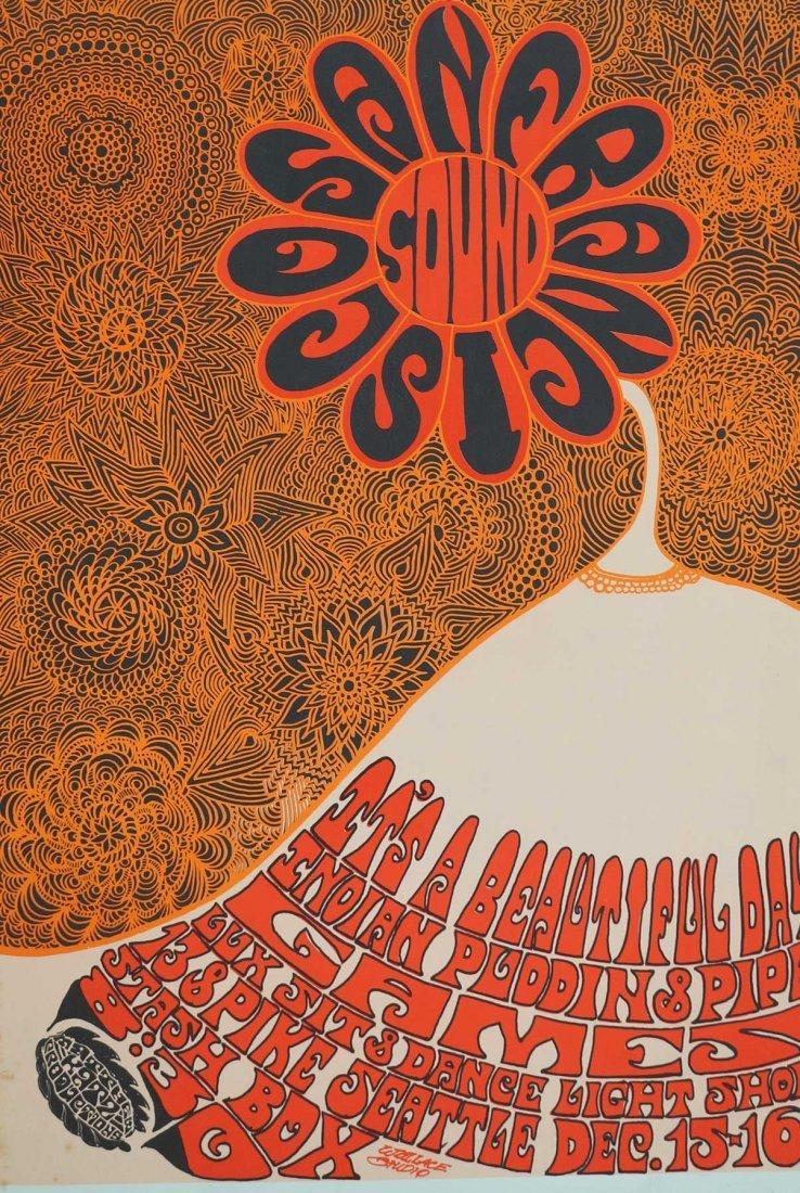 1967 San Francisco Sounds Rare Concert Poster. 23'' x