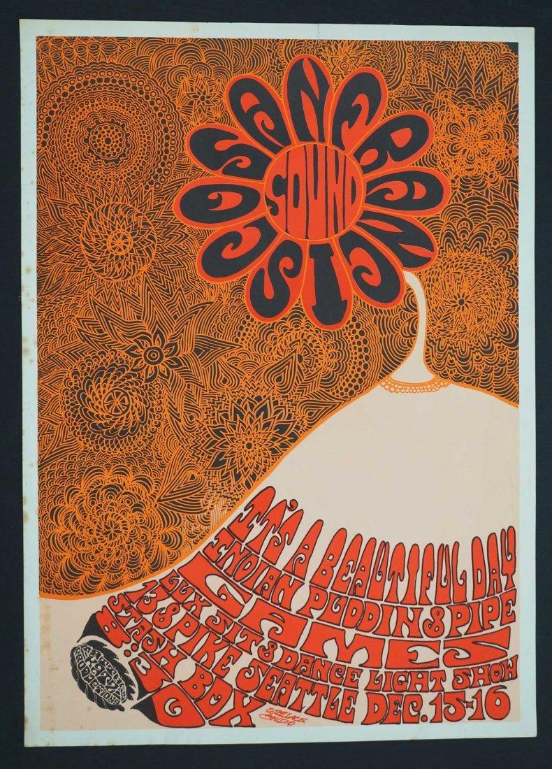 1967 San Francisco Sounds Rare Concert Poster. 23'' x - 2