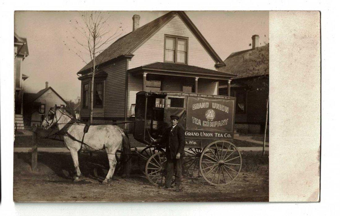 Grand Union Tea Company Horse Drawn Delivery Wagon