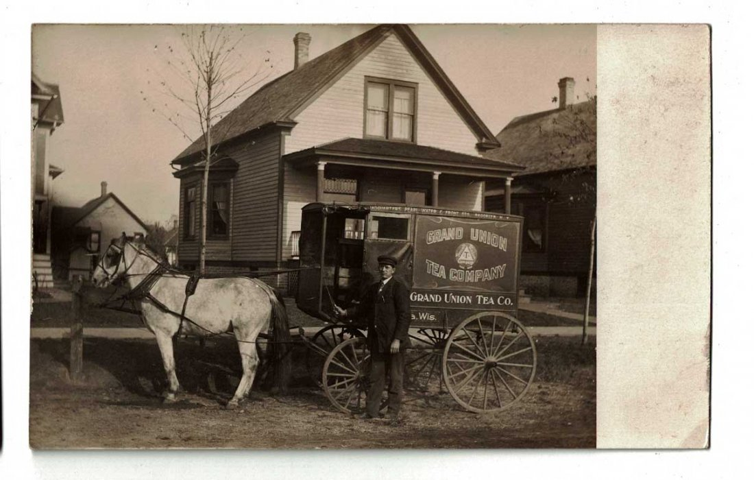 Grand Union Tea Company Horse Drawn Delivery Wagon